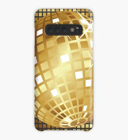 Goldene Discokugel Hülle & Klebefolie für Samsung Galaxy