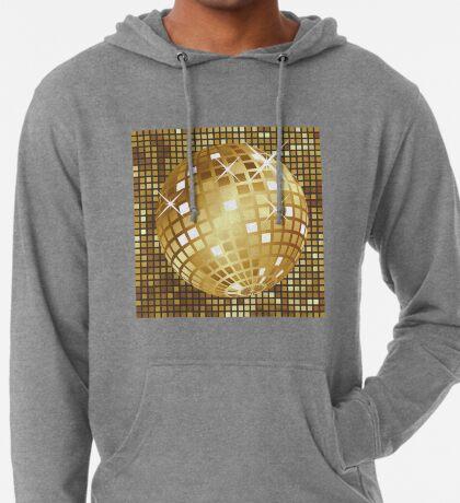 Goldene Discokugel Leichter Hoodie