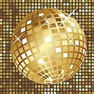 Goldene Discokugel von AnnArtshock