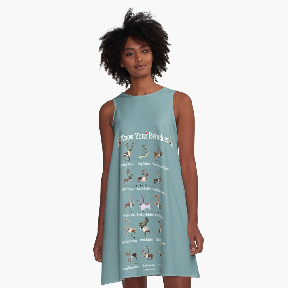 Know Your Reindeer A-Line Dress