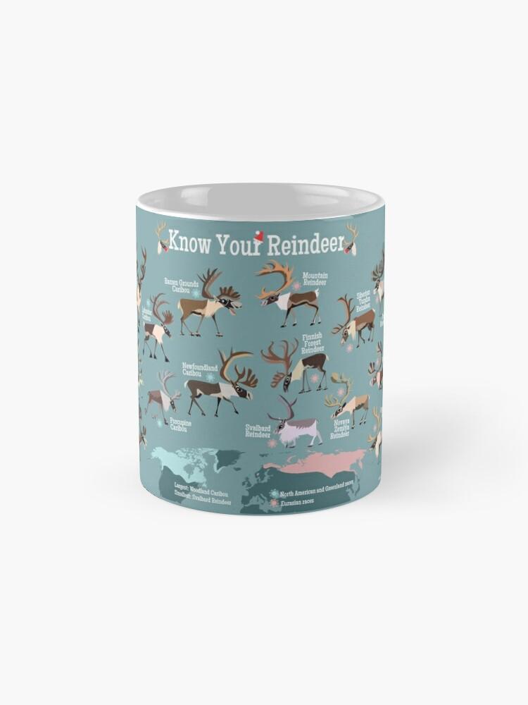 Alternate view of Know Your Reindeer Mug
