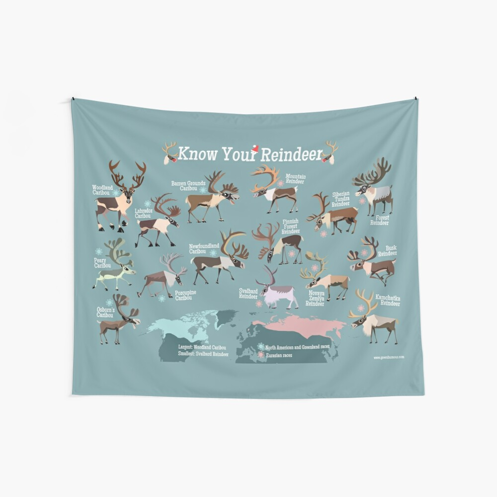 Know Your Reindeer Wall Tapestry