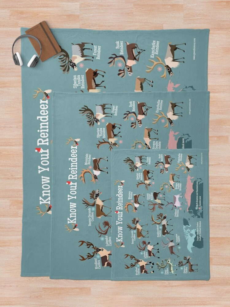 Alternate view of Know Your Reindeer Throw Blanket