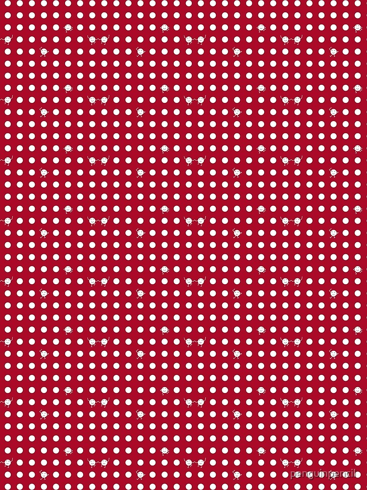 Polka dots! - RED by penguinpencil