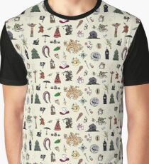 Peter Pan Neverland pattern Graphic T-Shirt