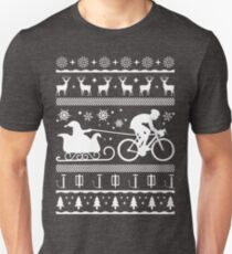 Funny Ugly Cycling Santa's Sleigh Christmas Shirt Unisex T-Shirt