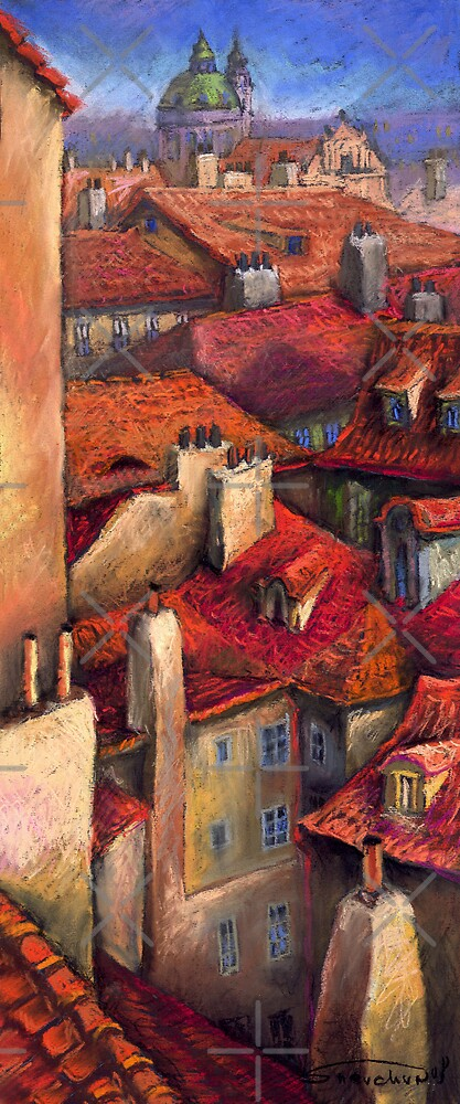 Quot Prague Roofs Quot By Yuriy Shevchuk Redbubble
