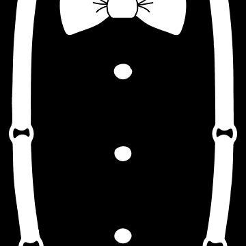 Bow Tie & Slacks (White tie) by Abili-Tees