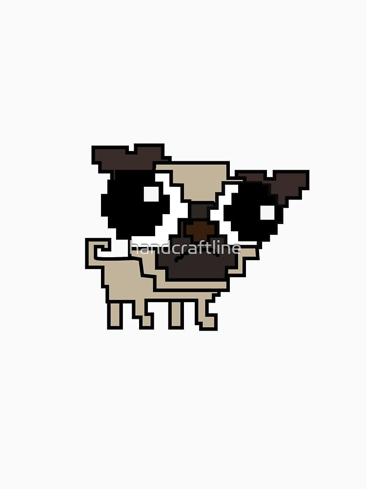 Stupid sad pug - but cute as f*ck by handcraftline