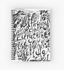 Life is racing Spiral Notebook