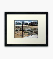 Newcastle Baths and Beach Framed Print