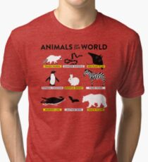 Animals of the world Tri-blend T-Shirt