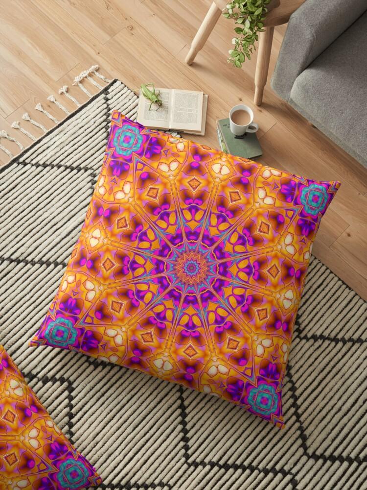 V1 Trippy Hippy Geometric Mandala by webgrrl