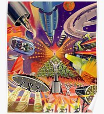 Retro Future Past - French Style - Collage Poster