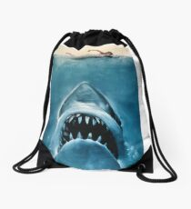 Jaws Drawstring Bag