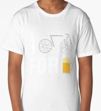 I Bike For Beer Funny Biker Bicycle Cycling Lover Long T-Shirt