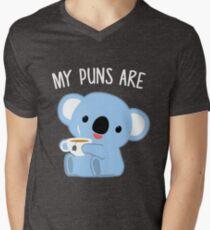 My Puns Are Koala Tea Funny Quality Pun Men's V-Neck T-Shirt