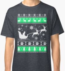Cat Sleigh Christmas, Funny Ugly Xmas Shirt, Perfect gift for Cat lovers Classic T-Shirt