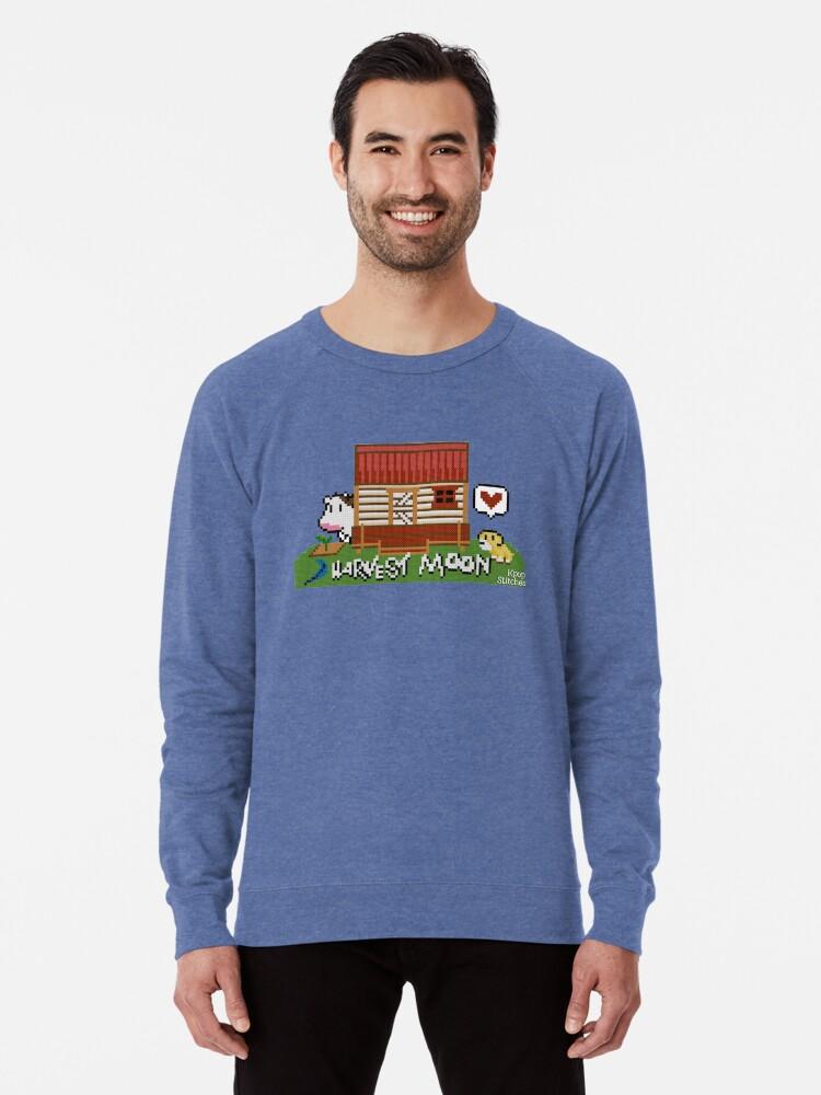 'Harvest Moon (SNES) cross stitch design' Lightweight Sweatshirt by dubukat