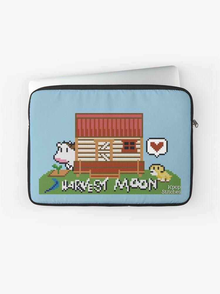 Harvest Moon (SNES) cross stitch design | Laptop Sleeve
