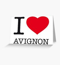 I ♥ AVIGNON Greeting Card