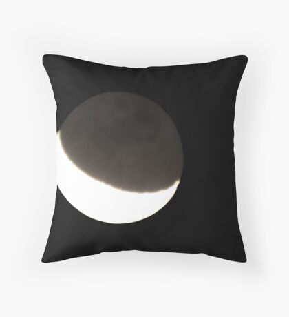 today's moon Throw Pillow