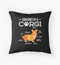 Anatomy Of A Corgi Funny Dog Lover Gift Throw Pillow