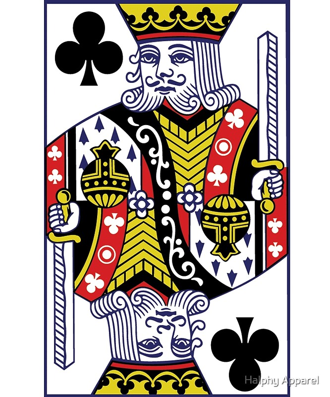 king of clubs poker posters by guy parisien redbubble