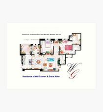Apartment of Will Truman and Grace Adler Art Print