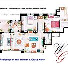 Apartment of Will Truman and Grace Adler by Iñaki Aliste Lizarralde