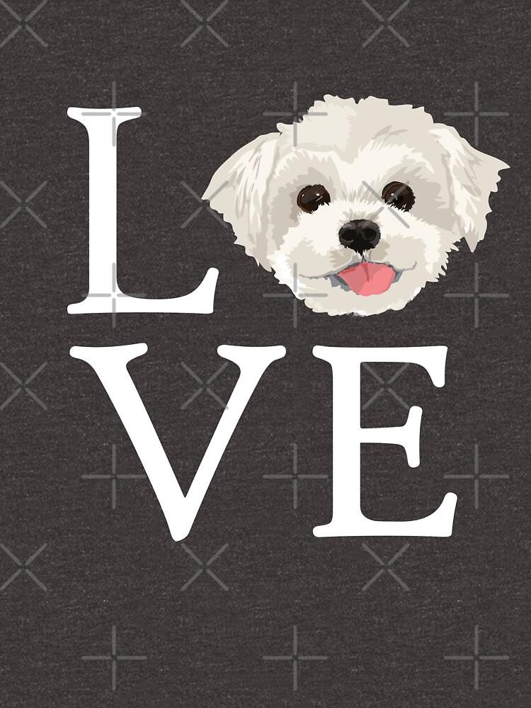 Ich liebe maltesischen Hundeliebhaber niedlichen Hündchen-Gesicht von JapaneseInkArt