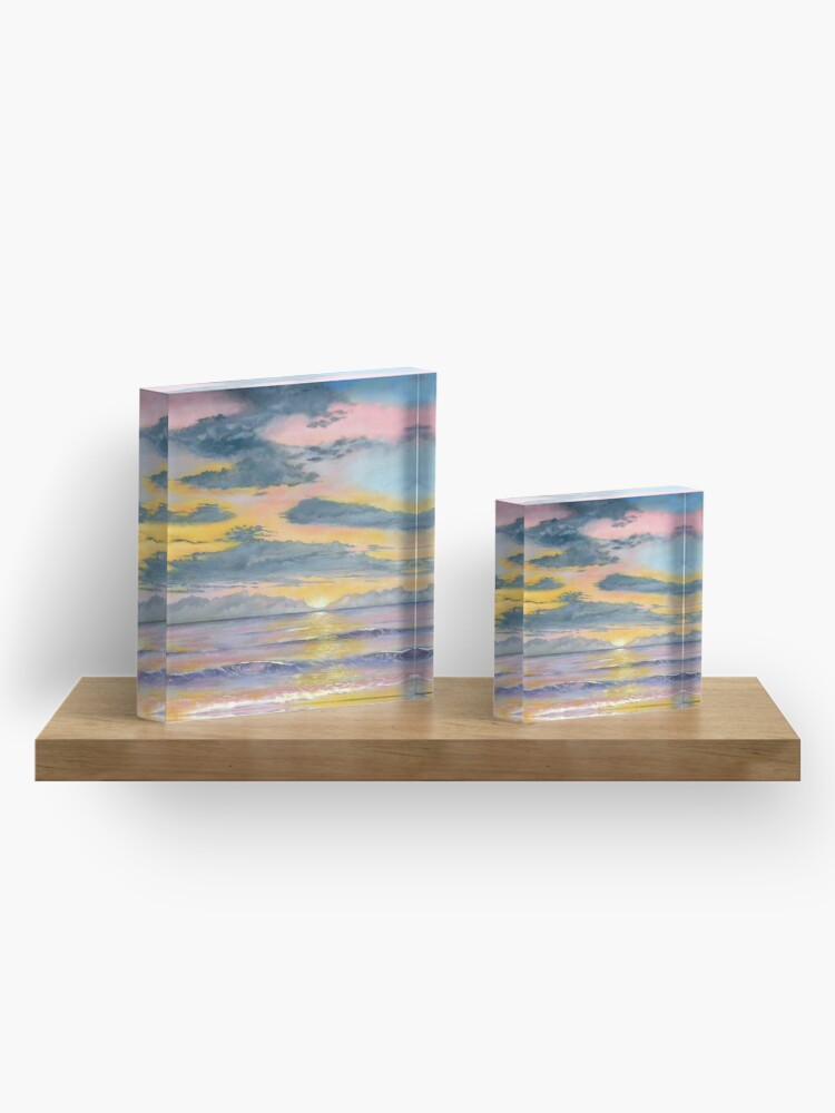 Alternate view of Here Comes the Sun Acrylic Block