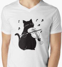 Black Cat Playing Violin Funny Musician Gift T-Shirt
