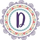 Monogramm-Buchstabe D | Personalisiert | Böhmisches Design von PraiseQuotes