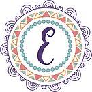 Monogramm-Buchstabe E | Personalisiert | Böhmisches Design von PraiseQuotes