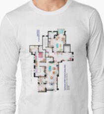 Apartments of Will Truman, Grace Adler and Jack MacFarland Long Sleeve T-Shirt