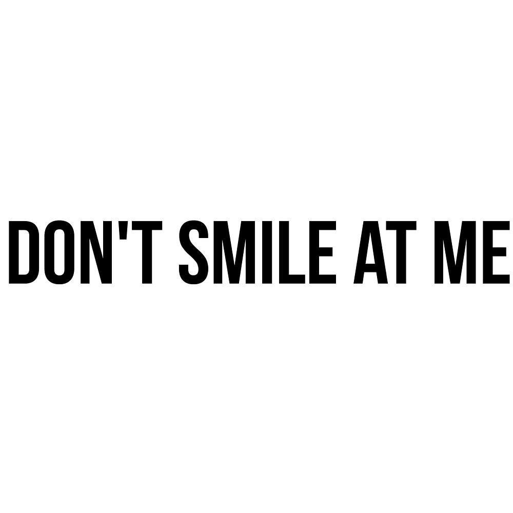 Quot Billie Eilish Don T Smile At Me Quot By Meikhjj Redbubble