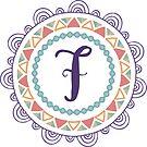 Monogramm-Buchstabe F | Personalisiert | Böhmisches Design von PraiseQuotes