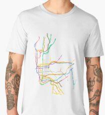 NYC Subway Map Men's Premium T-Shirt