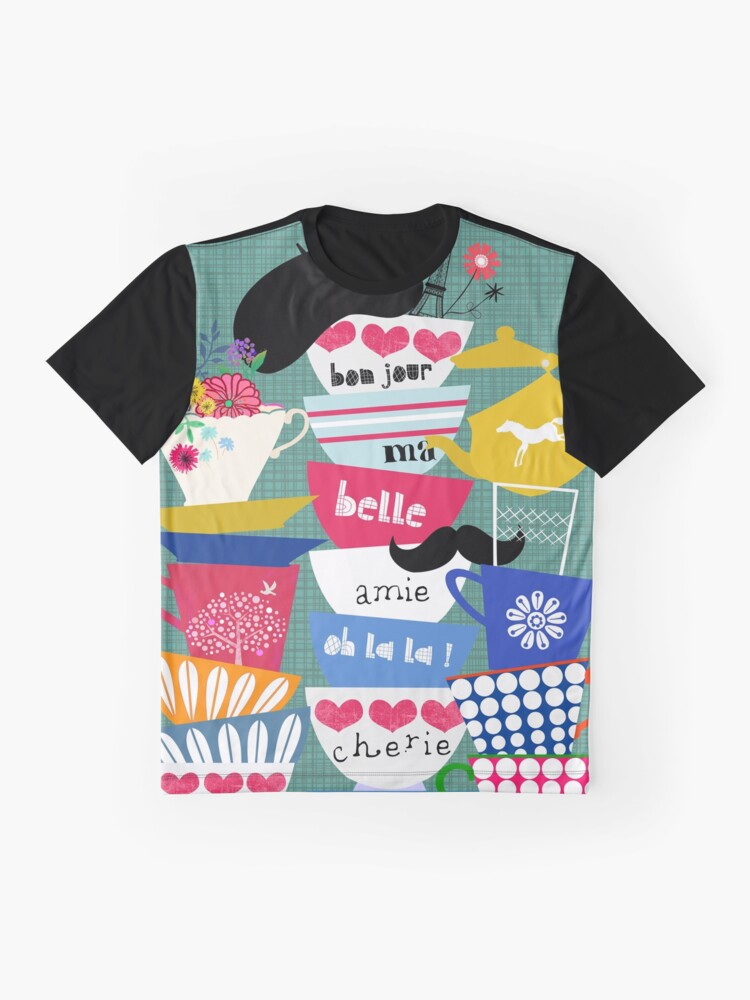 Alternate view of Bonjour ma Belle Graphic T-Shirt