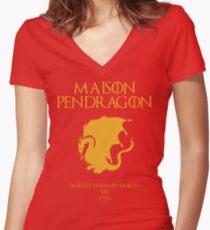 Kaamelott - House Pendragon Women's Fitted V-Neck T-Shirt