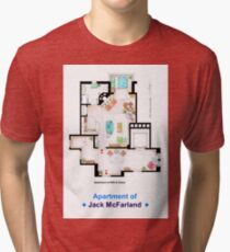 Jack McFarland's apartment form 'Will and Grace' Tri-blend T-Shirt