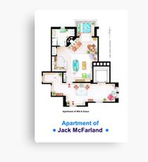 Jack McFarland's apartment form 'Will and Grace' Canvas Print
