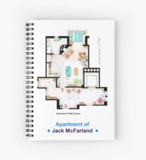 Jack McFarland's apartment form 'Will and Grace' Spiral Notebook