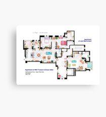Apartments of Will Truman, Grace Adler and Jack MacFarland Canvas Print