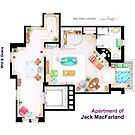 "Jack MacFarland's apartment from ""Will & Grace"" by Iñaki Aliste Lizarralde"