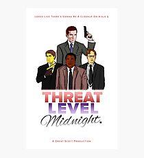 Geng Threat Level Midnight Photographic Print