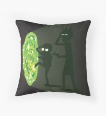 Rick and Morty - Portal Travel Throw Pillow