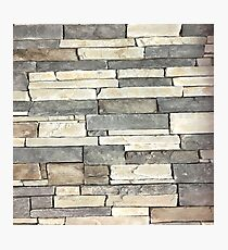 grunge earth tone grey nature stone texture Photographic Print