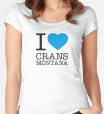 I ♥ CRANS-MONTANA Women's Fitted Scoop T-Shirt